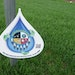 A sign at the Shakopee Mdewakanton Sioux Community, indicating that the grounds are irrigated with recycled water from a wastewater treatment plant.