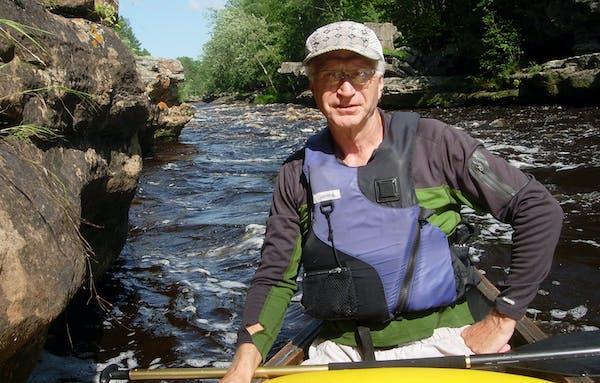 Greg Breining, shown on the Kettle River.