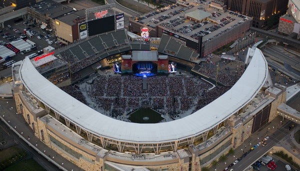 Kenny Chesney took the stage at Target Field for the first concert ever at the Twins ballpark on July 8, 2012.