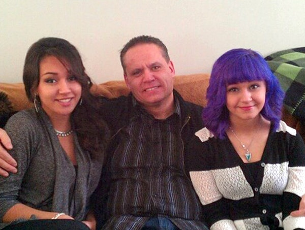 Wade McIntosh is pictured with daughters Maria, left, and Olivia.