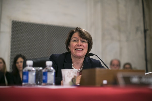 Sen. Amy Klobuchar, shown in January, called for a classified briefing for senators on Russian attempts to breach American voting systems.