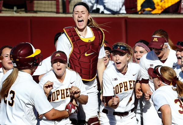 The Gophers have the best record in Division I softball, at 54-3, but in a stunning development Sunday night, that wasn't enough to land them one of