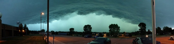 The National Weather Service in Chanhassen released this photo.