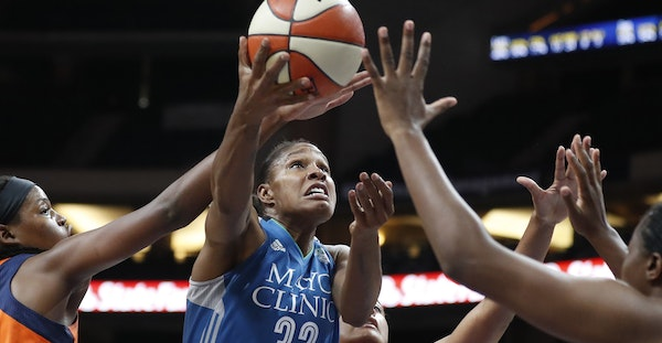 Lynx forward Rebekkah Brunson, center, is making an impact on both the offensive and defensive ends of the floor.
