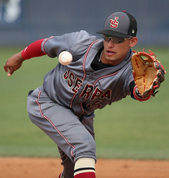 The Twins view Royce Lewis as a shortstop, where he has played as a senior this year for JSerra Catholic High School.
