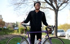 Connor Frazier of Minneapolis is regular bike commuter. He was encountered May 2 on Park Avenue, just south of downtown.