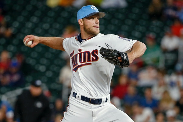 """Twins reliever Alan Busenitz threw his first pitch in the majors against Cleveland on Saturday. """"I couldn't tell if I was breathing,"""" he said. �"""