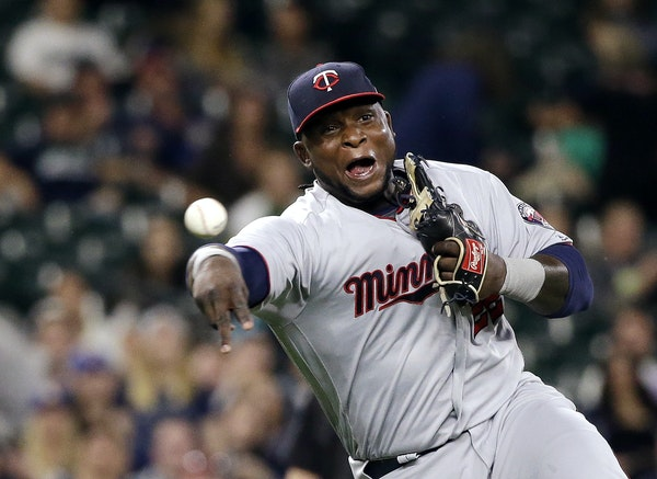 Minnesota Twins third baseman Miguel Sano in action against the Seattle Mariners in a baseball game Wednesday, June 7, 2017, in Seattle. (AP Photo/Ela