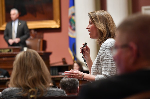 Rep. Sarah Anderson, R-Plymouth, defended her bill to reform the MSFA from amendments proposed by DFL House members.
