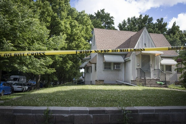 Police taped off the scene of s shooting on the 200 block of Maryland Avenue in St. Paul, Minn., on Monday, June 19, 2017.