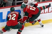 Eric Staal and Nino Niederreiter (22) are two of the players the Wild needs to make decisions about protecing as the NHL expansions draft to fill the