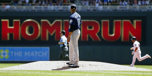 Eduardo Escobar hit a home run off Mariners starter Ariel Miranda to give the Twins a 2-0 first-inning lead. Five batters later, Chris Gimenez made it