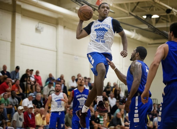 Gophers freshman Isaiah Washington during a Twin Cities Pro Am game at DeLaSalle High School.