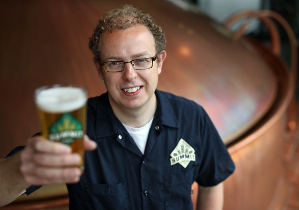 Damian McConn, head brewer of Summit Brewing Co. of St. Paul.