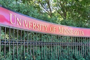 An entrance to the campus of the University of Minnesota.