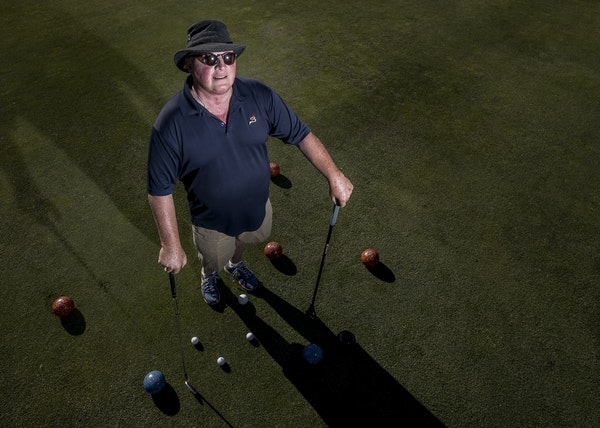 Michael Turnbull (above), the head golf pro at Brookview in Golden Valley, has started lawn bowling at the course. The number of Americans who play go