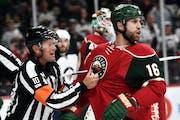 Feisty Wild winger Jason Zucker is hoping having an NHL team in Vegas will boost youth hockey. Star Tribune photo by Aaron Lavinsky.
