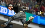 Bob Burnquist, winner of 30 X Games medals and 14 golds, lost control of his board during the Big Air final on Saturday.