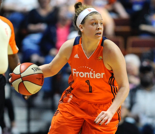 Connecticut's Rachel Banham, shown during a WNBA game in May, scored 11 points off the bench as the former Gophers star and the Sun beat the Lynx 98-9