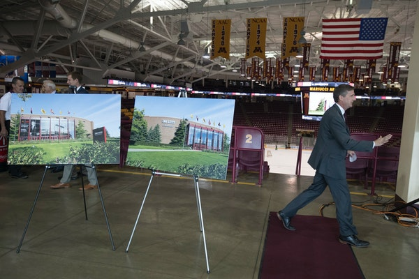 Mark Coyle, Gophers AD, announced the new naming 3M Arena at Mariucci
