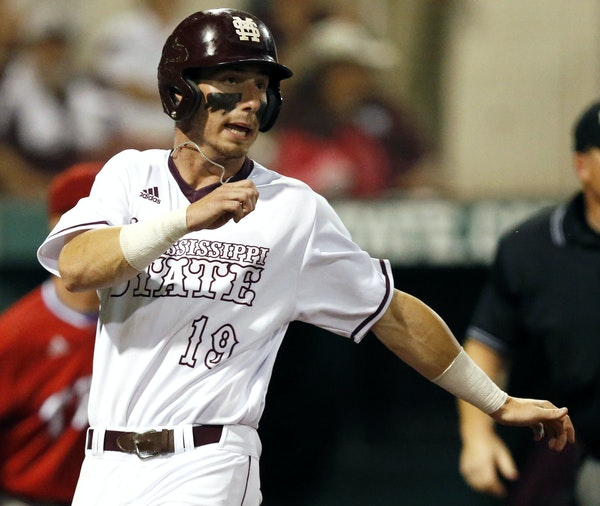 Mississippi State outfielder Brent Rooker — drafted 35th overall by the Twins — didn't have much leverage in contract negotiations with them. He