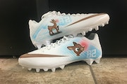 Dan Gamache designed this pair of cleats for Vikings tight end Kyle Rudolph.