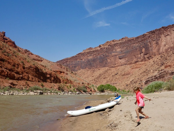 Faith Johnson of St. Francis, Minn., discovered treasures hidden under the floor of the Colorado River during a family rafting trip.