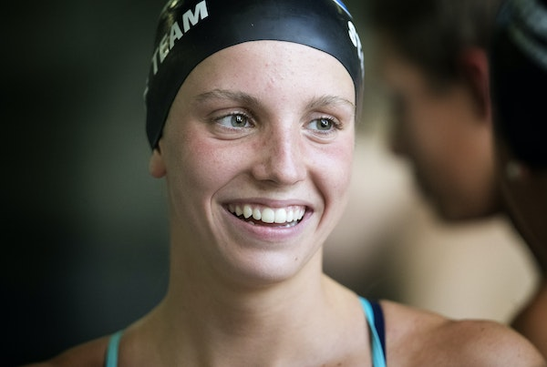 At 15, Regan Smith will swim with Olympians at the world meet.