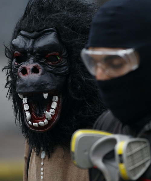Anti-government protesters marched to the Supreme Court on Saturday in Caracas.