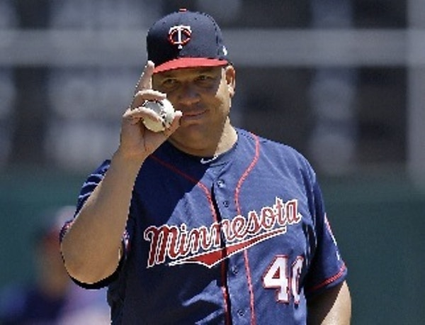 Twins starter Bartolo Colon handed Sunday's game over to the bullpen in the seventh inning with a 5-3 lead.