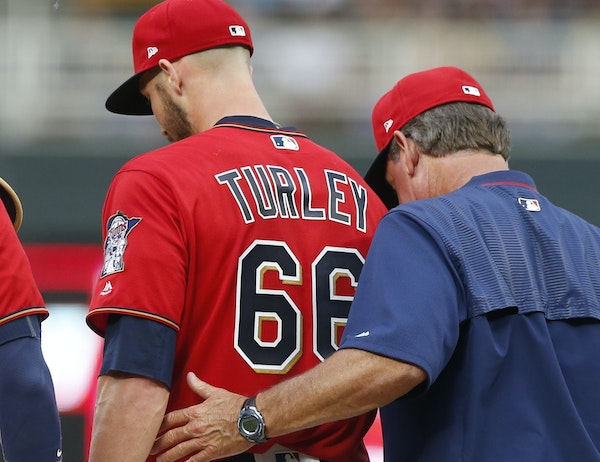 Nik Turley started the series opener for the Twins and gave up eight runs and nine hits and four walks in 4⅔ innings.