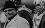 Packers' coach Vince Lombardi during a game in December 1964.