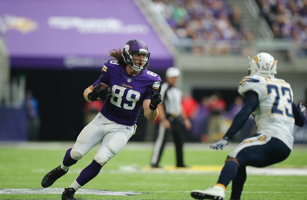 David Morgan has joined Vikings starter Kyle Rudolph in formations with two tight ends, which could be a more common sight for an offense trying to re