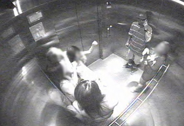 Surveillance image shows the scene shortly before a woman was stabbed in a downtown Minneapolis parking ramp in mid-July.