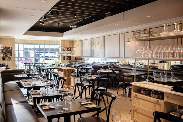 Like Spoon and Stable, Bellecour's crisply elegant interior was designed by Minneapolis design firm Shea, but with a more intimate scale.