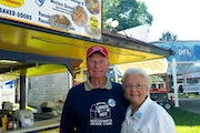 Lee and Bev Bahr, owners of the Lunch Box diner