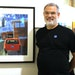 """After 10 years of rejections, artist Marty Harris of St. Louis Park finally won a top prize at the State Fair with his screen print """"Frontyard."""""""