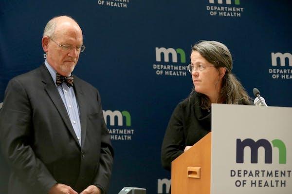 Minnesota's drug overdose deaths continued to climb in 2016, Minnesota Health Commissioner Dr. Ed Ehlinger, left, revealed during a press conference T