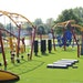 Obstacles on the course at Schaper Park include nets, suspended bags and other American Ninja-type challenges.