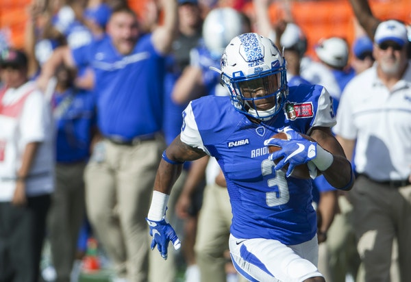 Richie James is just plain dangerous. Middle Tennessee could pull off the upset if he runs free often on Saturday. (AP photo by Eugene Tanner)