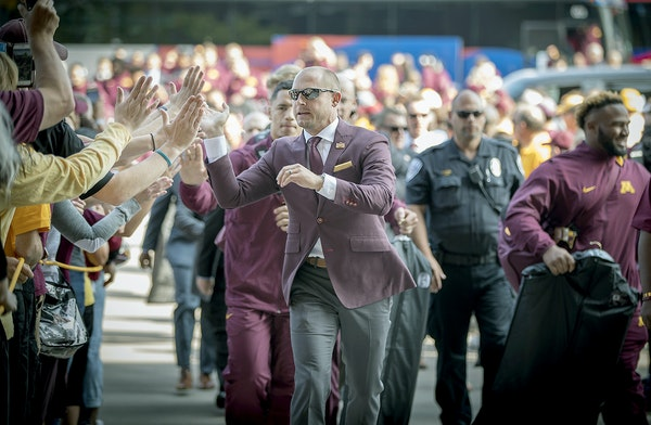 P.J. Fleck and the Gophers football team will be back on the field Sept. 30 vs. Maryland in their Big Ten opener. Kickoff has been set at 11 a.m.