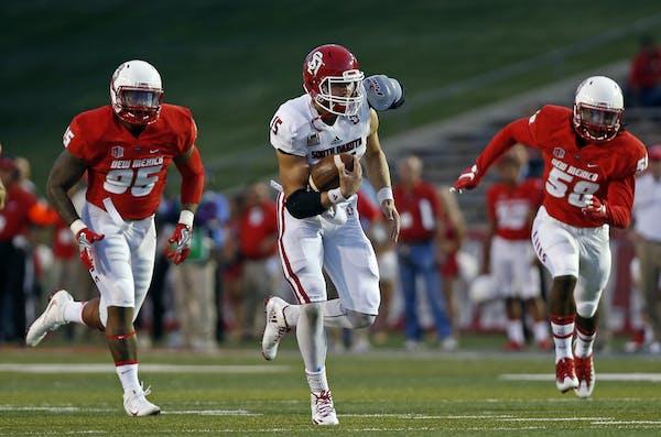 South Dakota quarterback Chris Streveler had 31 total touchdowns last season. (AP Photo/Andres Leighton)