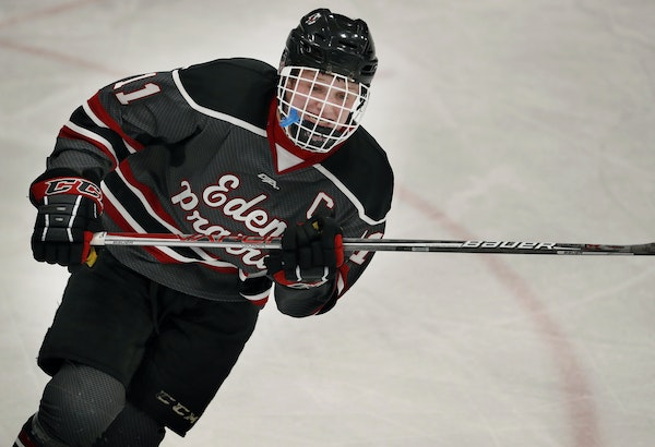 """It's a small sample size, but Gophers coach Don Lucia is impressed with freshman Casey Mittelstadt, formerly of Eden Prairie. """"He's competitive,"""
