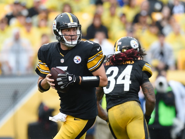 Ben Roethlisberger and DeAngelo Williams (34) have the Steelers offense humming.
