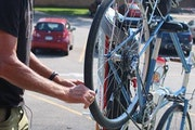 Mankato has installed bike repair stations along its bike paths in an effort to cater to a growing community.