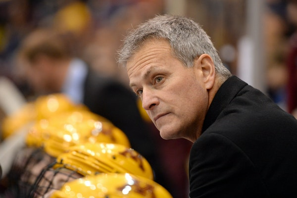 Gophers hockey coach Don Lucia has a large collection of regular-season Big Ten Conference titles.