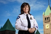 Former Minneapolis Police Chief JaneÈ Harteau. According to state law, any agreement that prohibits discussion or disclosure of otherwise public pers