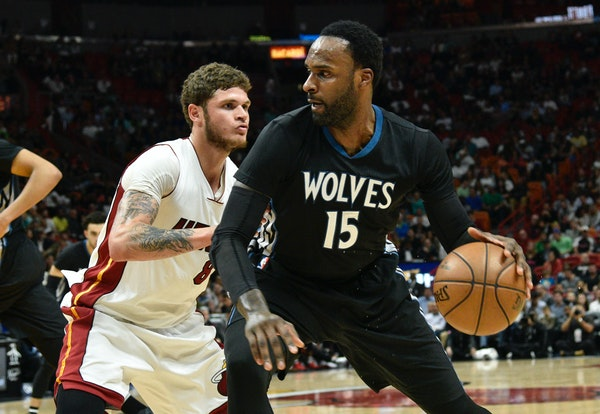 Shabazz Muhammad (15) reported to camp leaner and stronger, and happy to be part of a rebuilt Wolves team.
