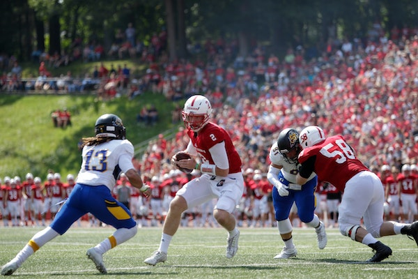 Jackson Erdmann tested the waters at Penn State before returning home to quarterback the Johnnies.