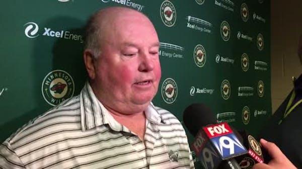 Wild coach Bruce Boudreau on his veterans